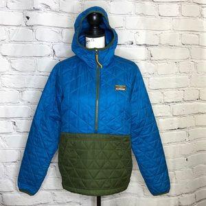 LL Bean Women's Katahdin Insulated Pullover, Colorblock - Blue/Green - medium
